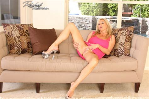 Rachel Aziani Stripping And Masturbating In Pink Dress