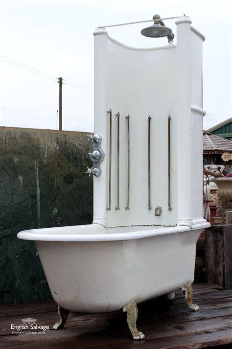 reclaimed canopy bath  shower unit
