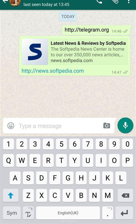 whatsapp blocks telegram messenger links in version