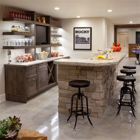Basement Bar Island by This Room Bar Features A Stacked Island Open