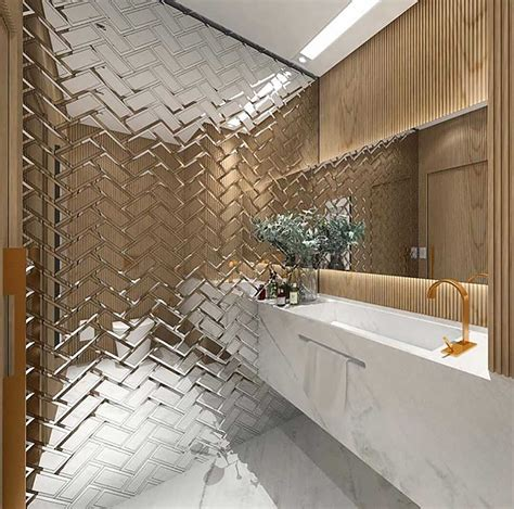 Bathroom Mirror Tiles by Introduce Chrome To Your Home With These Chrome Design Ideas