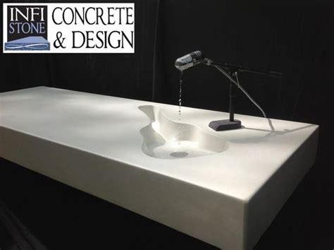 hand  concrete guitar shaped sink  infistone