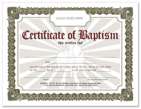 Baptism Certificate Template Free by Search Results For Water Baptism Certificate Template