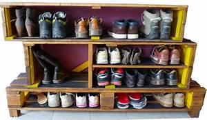 Casier A Chaussure : mod le meuble chaussures palette organization pinterest photos ~ Teatrodelosmanantiales.com Idées de Décoration