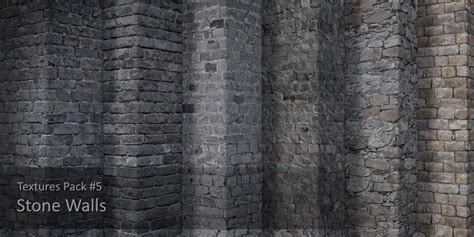 textures pack  stone walls cgtrader