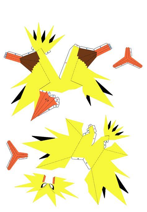putras blog papercraft pokemon zapdos