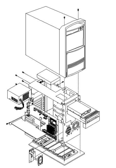 IBM IntelliStation Z Pro - Computer exploded view (Type 6899)