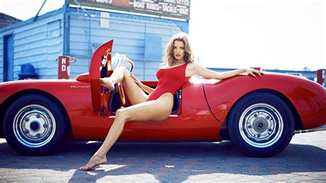 Classic Car Wallpaper 1600 X 900 Cool Pics by Alyssa Arce Model In Swimsuit And Cool Convertible
