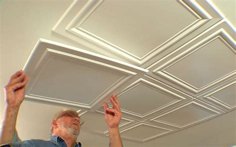 embossed polystryrene foam ceiling tiles are easy to