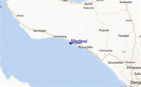 detail medewi beach location map  visitor guide bali
