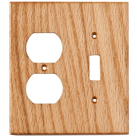 oak outlet covers oak wood wall plates 2 gang combo light switch duplex outlet cover