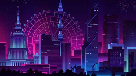 1080p Neon City Wallpaper by Neon City 4k Wallpaper