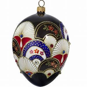 Japanese, Fan, Jeweled, Egg, Polish, Glass, Christmas, Ornament, -, Walmart, Com