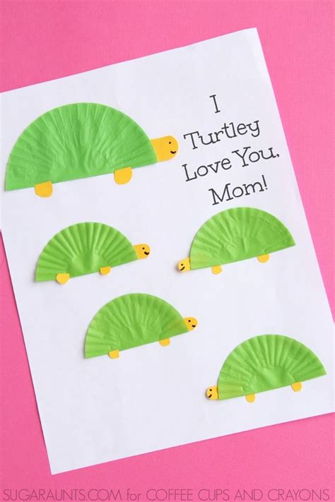 turtle themed mothers day card mothers day crafts