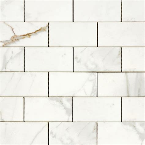 calacatta gold 3x6 quot italian marble honed subway tile