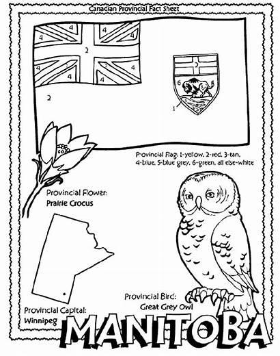 Manitoba Canadian Province Coloring Pages Canada Crayola