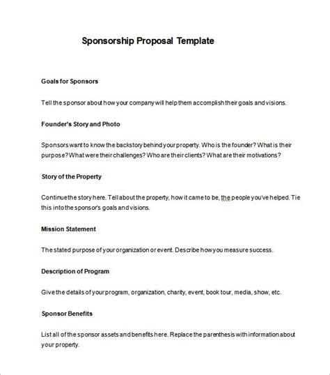sponsorship template sponsorship template 16 free word excel pdf format free premium templates