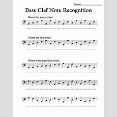 Bass Clef Note Recognition  Worksheet  Music Teacher  Pinterest  Bass, Note And Worksheets
