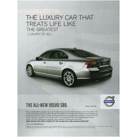 2007 Magazine Print Ad Volvo S80 The Luxury Car 311hp V8
