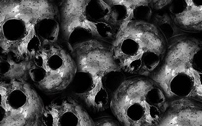 4k Wallpapers Scary Skulls Architecture Symmetric