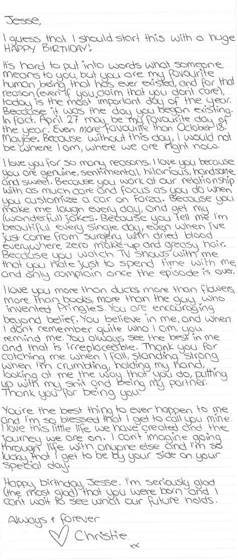 literal letter  jesse happy birthday letter