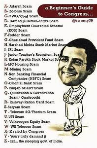 Can I Get A List Of Major Scams Under The Congress  Gandhi Family Regime