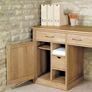 Buy Baumhaus Mobel Oak Large Hidden Office Twin Pedestal
