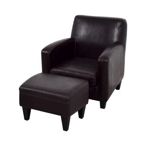brown leather chair and ottoman 52 off ikea ikea bonded brown leather chair and ottoman
