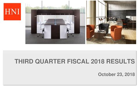 HNI Corporation 2018 Q3 - Results - Earnings Call Slides ...