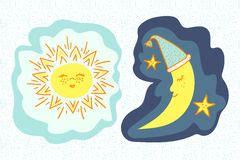 sol y de la historieta ilustraci 243 n vector ilustraci 243 n de historieta ma 227 177 30405691
