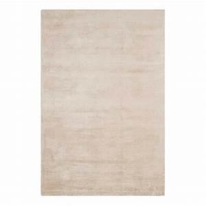 tapis moderne uni beige clair en viscose With tapis beige clair