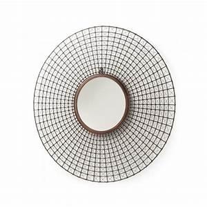 Miroir Rond Cuivre : miroir rond mural tiges m tal cuivre by drawer ~ Edinachiropracticcenter.com Idées de Décoration