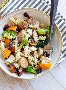 Chicken Pasta With Butternut Squash  Caramelized Onions  And Tart Cherries
