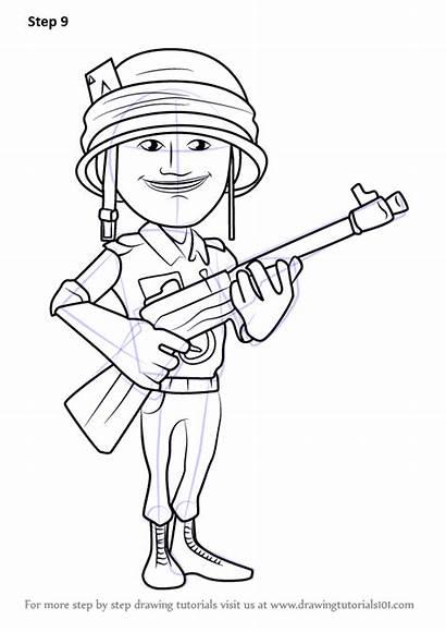 Boom Draw Rifleman Drawing Step Tutorials
