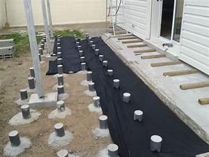 Terrasse Bois Sur Plot Beton : plot beton terrasse bois 6 impressionnant sur plots 0 ~ Melissatoandfro.com Idées de Décoration