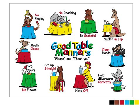 table manners for kids manners for children table manners mat the lett group