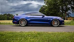 deep impact blue ford mustang gt s550 hre ff15 fog flow formed concave wheels | PK Auto Design