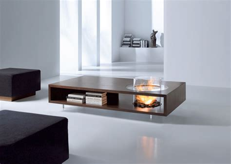 Coffee Table With Fireplace Designs