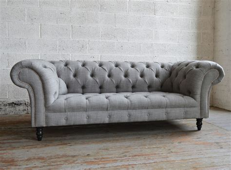 Light Grey Chair Romford Wool Chesterfield Sofa Abode Sofas