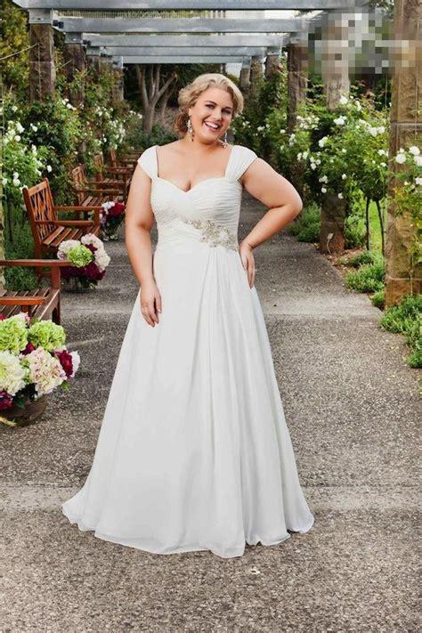 2015 cheap plus size garden wedding dresses cap