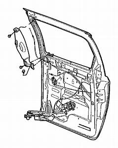 Dodge Grand Caravan Hinge  Sliding Door Body Side  Right