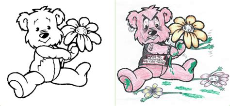 innocent coloring book crazily turned  corrupted