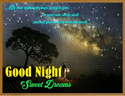 Night Goodnight Greetings Cards Late Greeting Card