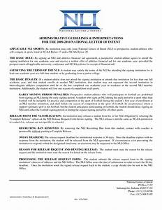 Ncaa Letter Of Intent How To Format Cover Letter