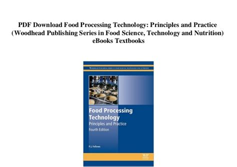 food processing technology principles