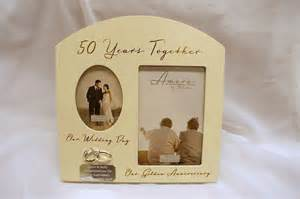 wedding anniversary photo frames personalised 50th anniversary photo frame golden wedding anniversary gifts