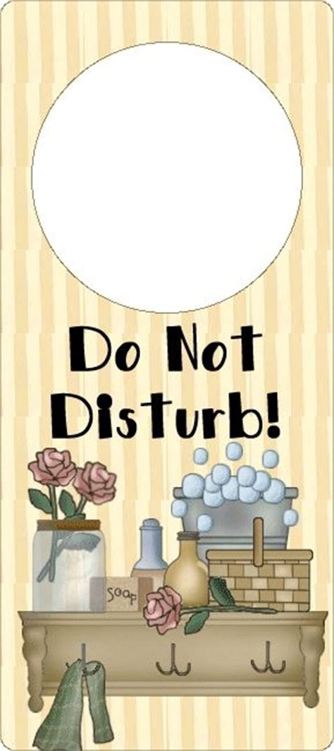 dont disturb door hanger  bathroom printables