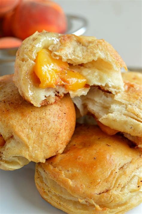 Peach Pie Biscuit Bombs This Recipe Easy Soooo