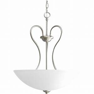 Progress lighting heart collection light brushed nickel