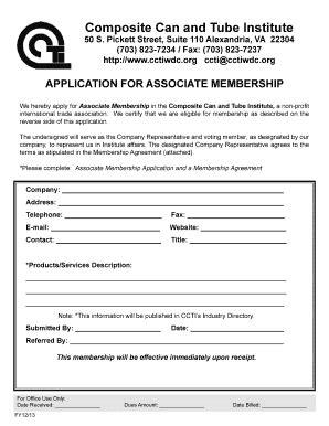 associate membership application packet composite